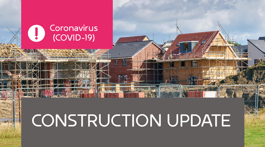 Our construction sites are closing Friday 27th March