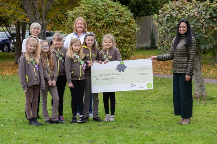 1st Yatton Brownies name new roads at Eaton Park